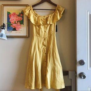 Zara romantic yellow dress